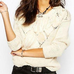 ASOS Story of Lola Small Cream Oversized Sweater